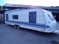HOBBY 700 SMF 2004EXCLUSIVE TOURING CARAVAN WITH FULL AWNING