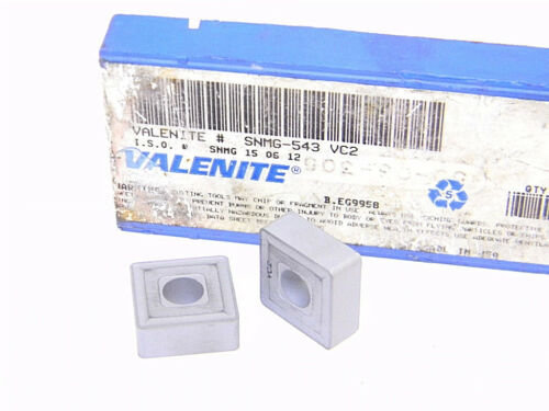 NEW SURPLUS 9PCS. VALENITE  SNMG 543  GRADE: VC2  CARBIDE INSERTS