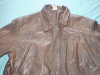 Brown Leather Jacket (USED) Size L