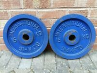 2 x 15KG OLYMPIC WEIGHTS