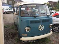 1969 VW camper Campervan - Bay Window - LOW MILEAGE - DRIVES LOVELY