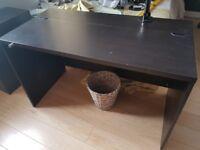 IKEA desk, black/brown