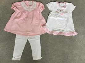 BABY GIRLS PINK GINGHAM TOOS AND LEGGINGS 9-12
