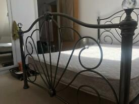 Double bed - frame & matress