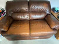 2 seater leather sofa - Free - Need gone by Friday- buyer to collect