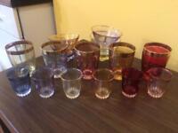 Gorgeous vintage coloured glassware