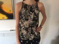 Miss Selfridge Khaki Vest Top Size 8