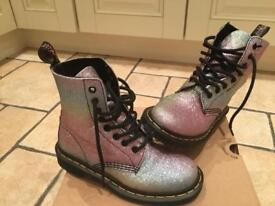 Dr Martens Size 3 ladies rainbow multi glitter boots