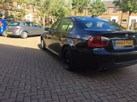 BMW 320d 2007 M SPORT 2 owners LONG MOT BLACK LEATHER CHEAP BARGAIN 325d 330d 318d 520d 530d 525d