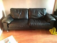 Leather Sofas DFS Good condition.