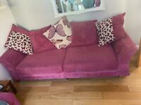 2 pink sofa's for sale