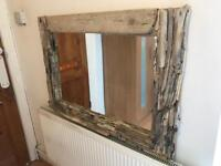 """Handcrafted Driftwood Mirror 38"""" x 27"""""""