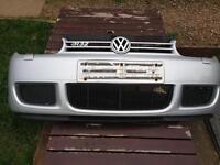 Volkswagen Golf MK4 R32 front bumper LA7W Reflex Silver Genuine OEM item