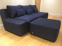 Habitat 'Kasha' 3 seater sofa and footstool