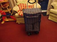 pull along shopping trolley in good condition 6 wheels