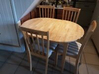 Extending Kitchen Table & 4 Chairs