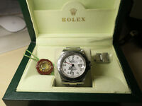 Rolex Explorer II 16570 - White Dial 40mm - Box, Tags, Purchase Invoice - 2004 (No Holes Case)
