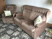 Settee with matching Recliner Chair