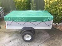 Galvanised 5ft x 3ft trailer with cover