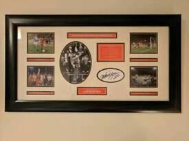 Signed framed Nottingham Forest memorabilia picture print