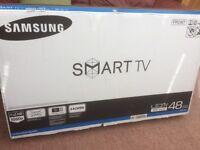 "Samsung 48"" led smart tv, brand new in box"