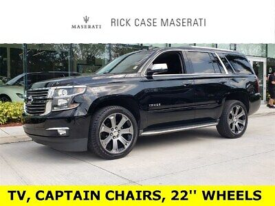 2015 Chevrolet Tahoe LTZ Chevrolet Tahoe Black with 78,025 Miles, for sale!