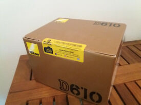 NEW FULL FRAME NIKON D610 FX CAMERA Original Box Sealed