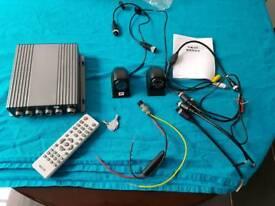 In car DVR 4 Channels CCTV