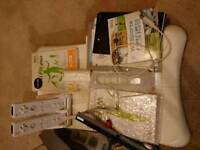 Nintendo Wii console + fit board + accessories