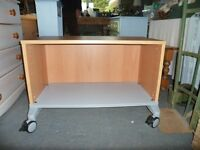 Wheeled Open front cabinet suitable for TV or computing, home or office