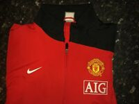 Manchester United football club official zip track training top / jacket