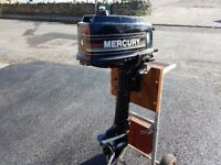 Mercury/Mariner 4HP 2 Stroke short shaft boat outboard motor