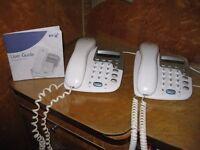BT DECOR 1200 TELEPHONES X 2