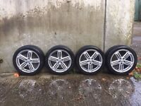 """VW Mk6 Golf R 17"""" Alloy Wheels and Tires"""