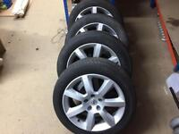 Nissan 350z alloys and tyres 17""