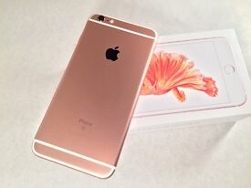 Apple IPhone 6S Plus, 128GB, Rose Gold, Unlocked, Immaculate, AppleCare.