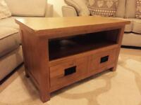 Oak Tv stand with draw/storage, immaculate furniture offers welcome BURY ST EDMUNDS