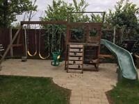 Childerens Play Frame and Slide with Swings