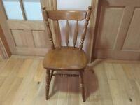 solid oak chair excellent condition BELFAST NEWCASTLE can meet deliver kitchen bedroom livingroom