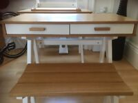 KIDS SCHOOL DESK WITH MATCHING BENCH