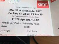 Marillion weekend tickets