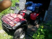 looking to sell or trade 2001 Honda fourwheeler 350 4 x4