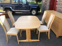 Skovby extending dining table & chairs * free furniture delivery *
