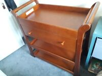 Solid wood mammas and pappas changing table