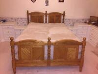 Oak Head and Footboard American Queen size
