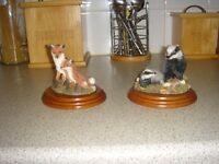 4 wildlife ornaments