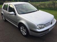 Oct 2003 VW Golf 1.4 S 5DR FSH 1yrs Mot 6mth warranty 2 owners