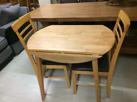 Small tables £80 chairs £35 each new