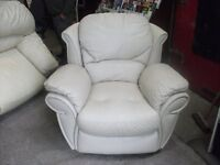 Leather sofa and reclining chair very soft delivery available £30