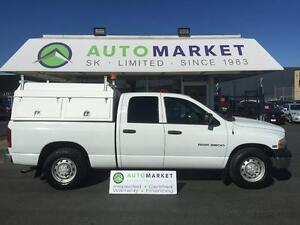 2005 Dodge Ram 2500 Crew Cab 3/4ton TRADESMAN CANOPY ROLL OUT BE
